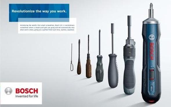 Bosch GO Cordless Screwdriver Size Comparison