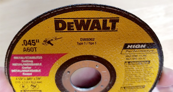 Dewalt Cut-Off Wheel Edge