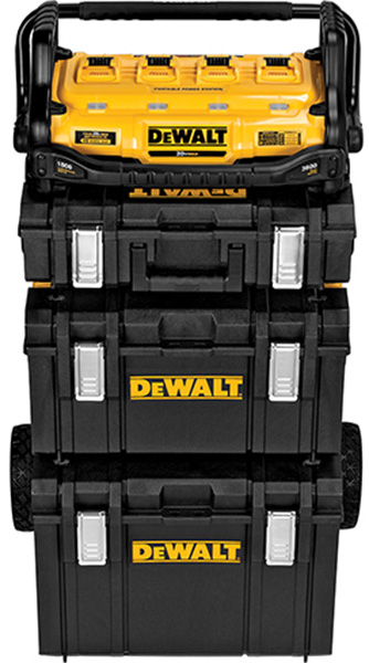 Dewalt DCB1800 on Top of ToughSystem Stack