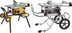 Reader Question: Dewalt DWE7491 vs. Skilsaw SPT99 Table Saw with Rolling Stand?