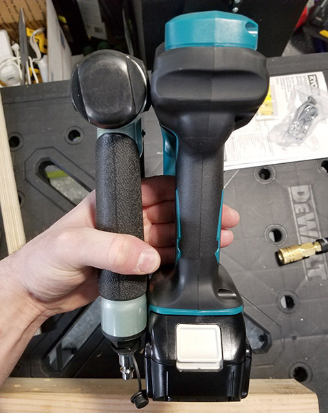 Hitachi Air Pin Nailer Compared to Makita Cordless Pin Nailer