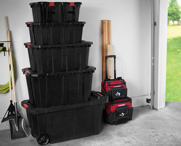 Husky Latch and Stack Totes all Sizes