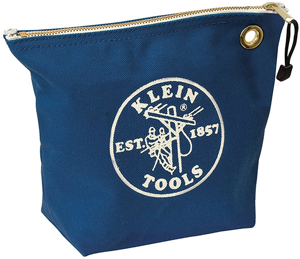 Klein Blue Consumables Zippered Tool Bag