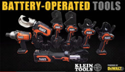 "New Klein ""Powered by Dewalt"" Cordless Power Tools"