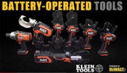 "New Klein ""Powered by Dewalt"" Cordless Power Tools"