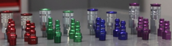 Milton ColorFit plugs and couplers