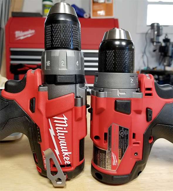 Milwaukee M12 Fuel Hammer Drill Comparison from Table
