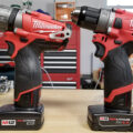 Milwaukee M12 Fuel Hammer Drill Comparison from the Side