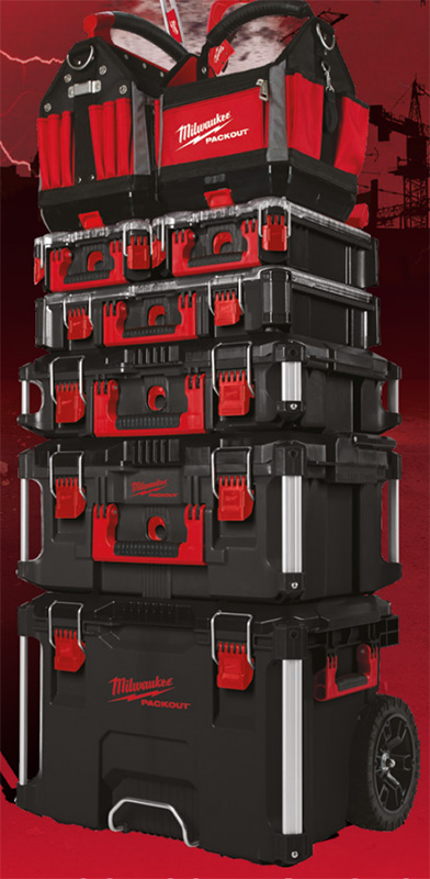 Milwaukee Packout Tool Box Stack in Black