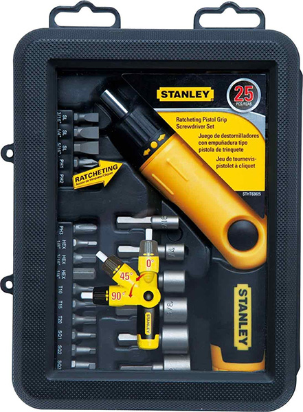 Stanley Pistol Grip Ratchet Set