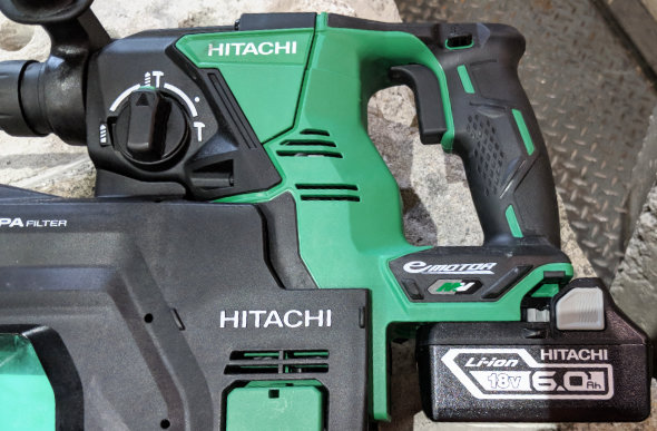 18V Battery on a Hitachi MV tool