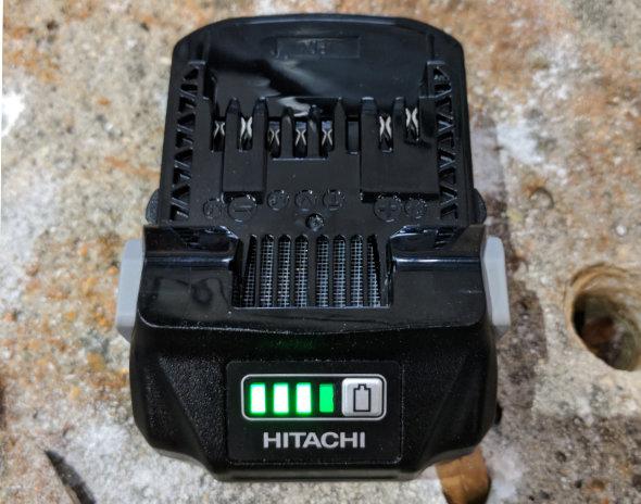 Battery Meter on the MultiVolt Battery