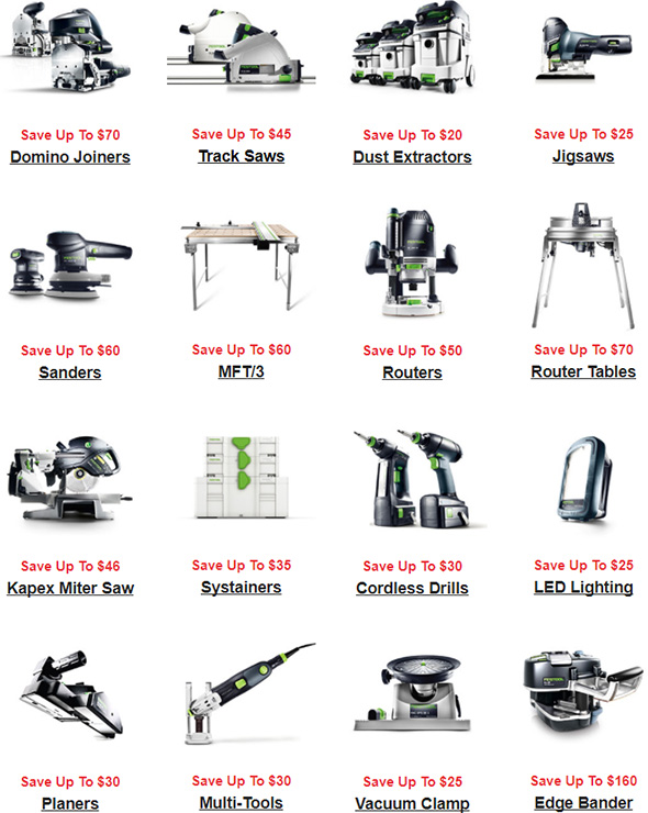 Festool 2018 Price Increase