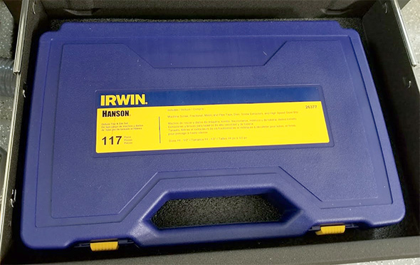 Irwin Hanson Tap and Die Set Case