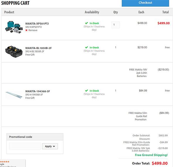 Makita Track Saw Bundle Acme Tools Checkout