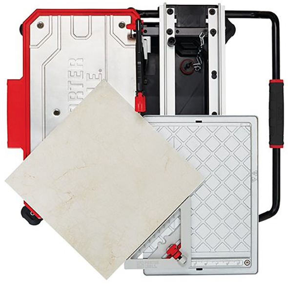 Porter Cable Cordless Tile Saw Cutting Large Square Tile