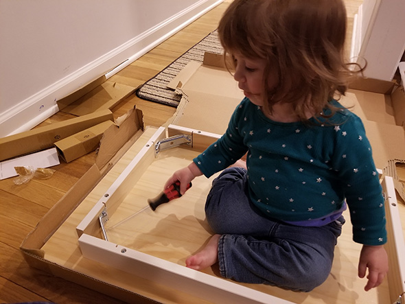 TG Princess Screwdriving Ikea Table