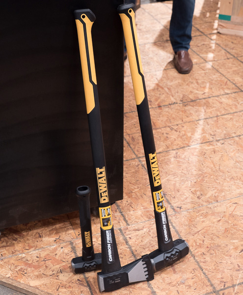 Dewalt Carbon Fiber Sledge Hammers and Axe