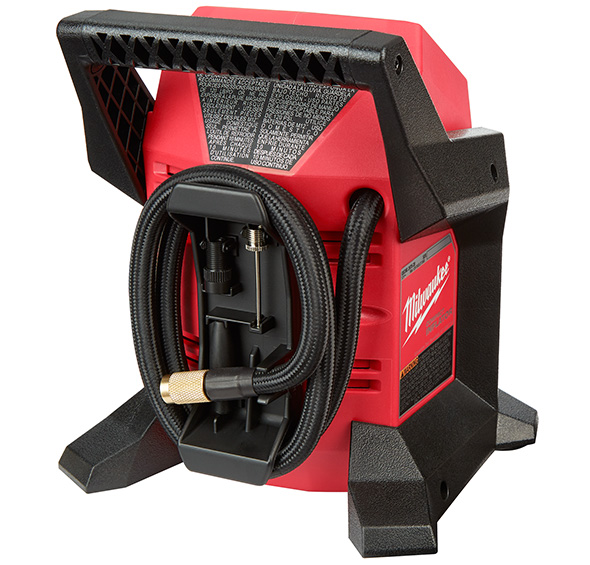 Milwaukee M12 Cordless Inflator Rear Hose Dock