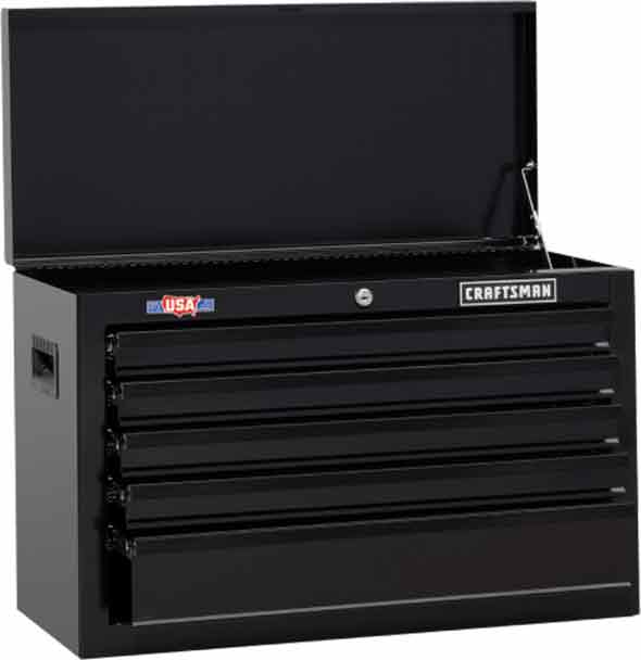 Craftman Black 5-Drawer Tool Chest 2018