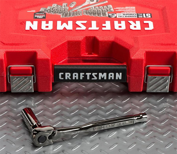 Craftsman 51pc Mechanics Tool Set Ratchet and Carrying Case