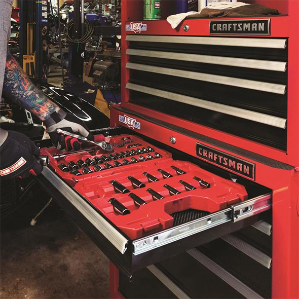 Craftsman 81pc Mechanics Tool Set in Tool Cabinet
