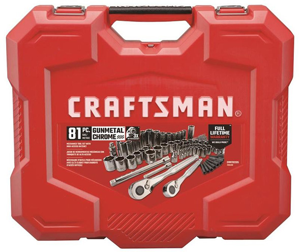 Craftsman 81pc Tool Set Case