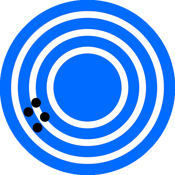 High Precision Low Accuracy Dart Board