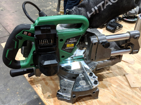 Hitachi MV 36V 6.5 inch Miter Saw side view
