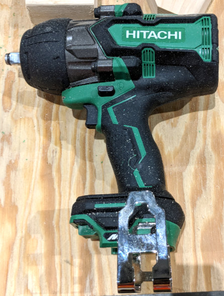 Hitachi MV 36V half-inch Impact Wrench flip side