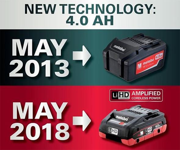 Metabo 18V Compact 4Ah Battery
