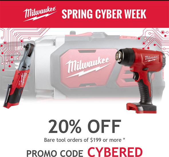 Milwaukee Spring Cyber Week Discount 2018