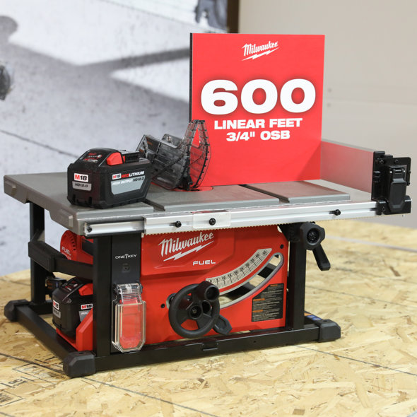 Milwaukee tools new m18 fuel cordless table saw keyboard keysfo Images