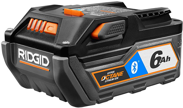 Ridgid 18V 6Ah Bluetooth Octane Battery Pack
