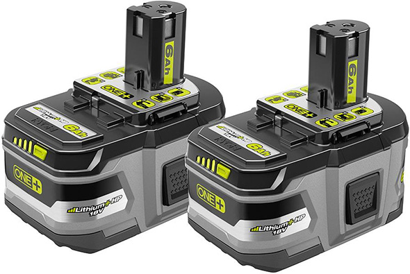 ryobi 18v 6 0ah cordless power tool batteries are now at home depot stores. Black Bedroom Furniture Sets. Home Design Ideas