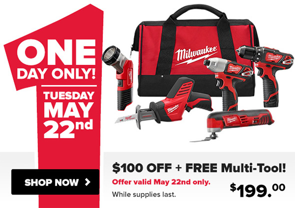 Tool Nut Milwaukee M12 Cordless Combo Kit Deal