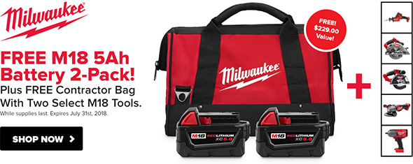 Tool Nut Milwaukee M18 Build Your Own Combo Kit Deal May 2018