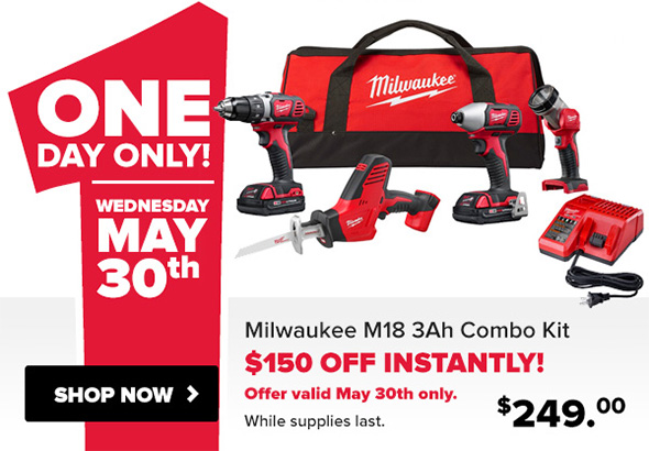 Tool Nut Milwaukee M18 Cordless Combo Kit Deal