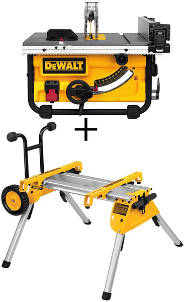 Dewalt Table Saw and Roller Stand Bundle