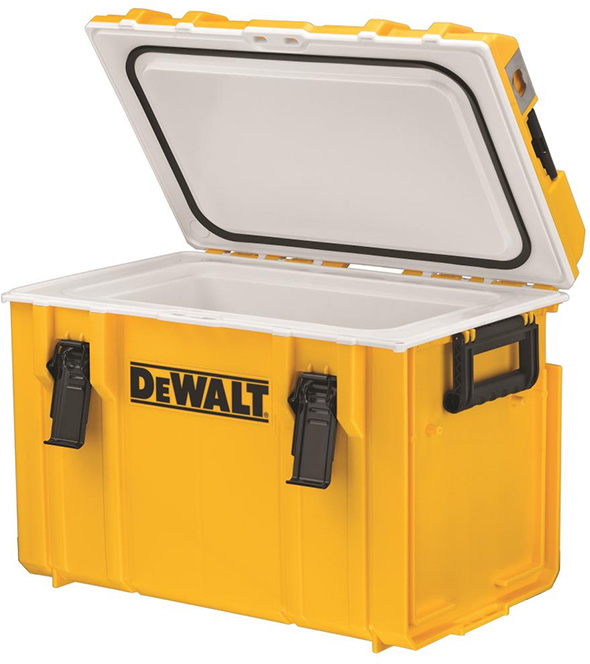 DeWalt 65 Quart Roto Molded Insulated Lunch Box Portable Drink Cooler Yellow