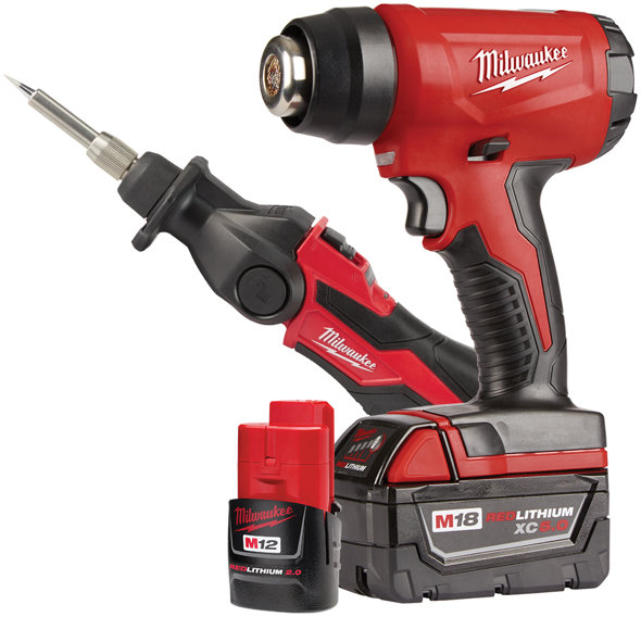 review milwaukee m18 cordless heat gun  milwaukee heat gun and soldering iron kit 2688 21k