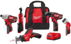 Deal: Milwaukee M12 5-Tool Cordless Combo Kit for $199