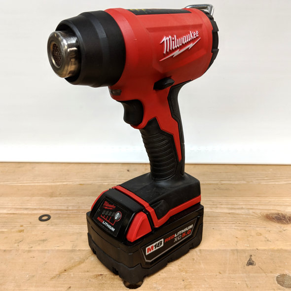 review milwaukee m18 cordless heat gun  milwaukee m18 compact heat gun hero
