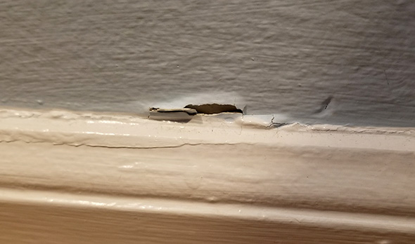 Peeling Paint by Baseboard
