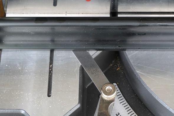 Ryobi One+One Cordless Miter Saw Table Flatness