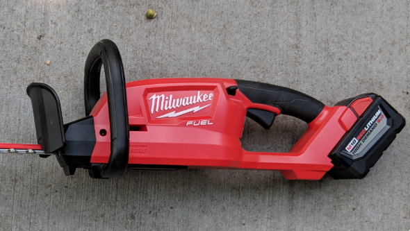 Close up of Milwaukee M18 Fuel Hedge Trimmer