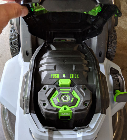 EGO 21inch push mower battery box