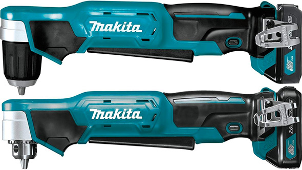Makita 12V Right Angle Drills Size Comparison