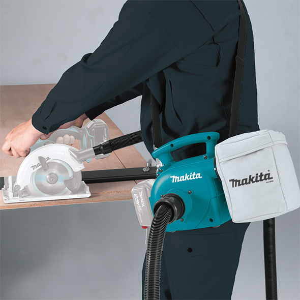 Makita XCV02Z Dust Extractor Blower with Small Circular Saw