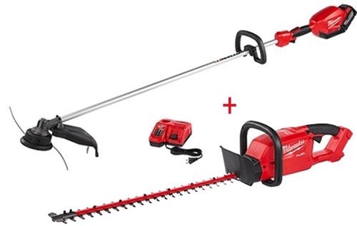 Ohio Power Tool Milwaukee M18 Fuel Hedge Trimmer Kit plus StringTrimmer